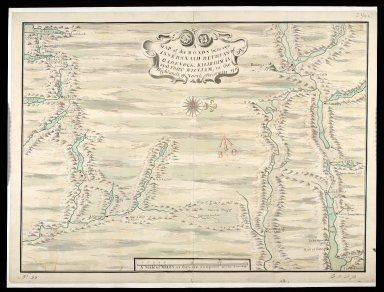 A Map of the Roads between Innersnaid Ruthvan of Badenock, Kiliwhiman and Fort William, in the Highlands of North Brittain [1718] 1741[copy] [1 of 1]