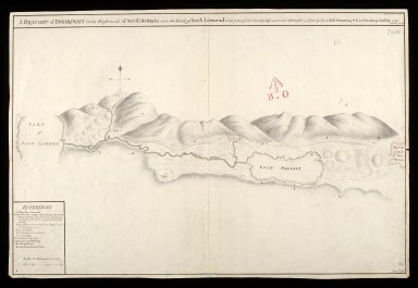 A Draught of Innersnait [i.e. Inversnaid], in the Highlands of North Brittain [i.e. Britain] nere the head of Loch Lomend [i.e. Lomond] : with part of the country adjacent [copy] [1 of 1]