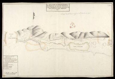 A Draught of Innersnait [i.e. Inversnaid] in the Highlands of North Britain near the head of Loch Lomend [i.e. Lomond] with part of the country adjacent; copied in 1742 [1 of 1]