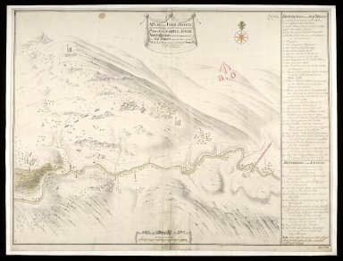 A Plan of the Field of Battle that was fought on ye 10th of Iune 1719, at the Pass of Glenshiels in Kintail North Britain with ye Disposition of his Majtys Forces under ye Command of Majr. Genl. Wightman, & of those of ye Rebels [1 of 1]