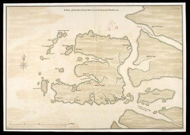 A Plan of the Island of Mull with the adjacent Islands [between 1710 and 1720] 1741 [copy] [1 of 1]