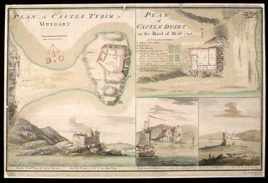 Plan of Castle Tyrim [i.e. Tioram] in Muydart [i.e. Moidart] : plan of Castle Duirt [i.e. Duart] in the Island of Mull 1748 [1 of 1]