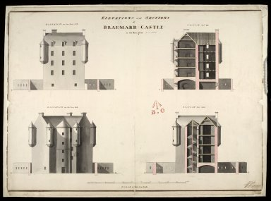 Elevations and sections of Braemarr [i.e. Braemar] Castle in the year 1750 [1 of 1]