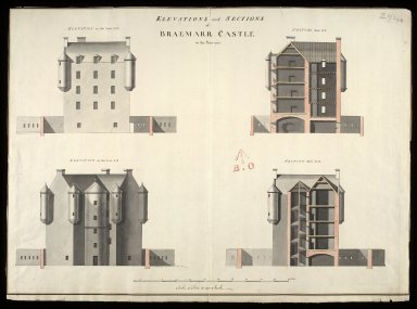 Elevations and sections of Braemarr [i.e. Braemar] Castle in the year 1750 [copy] [1 of 1]