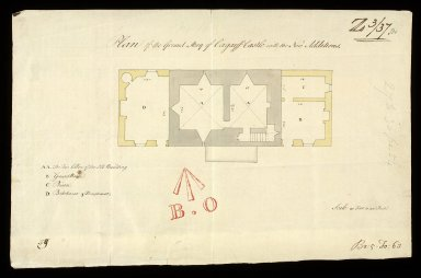 Plan of the ground story of Corgarff Castle with the new additions [1 of 1]