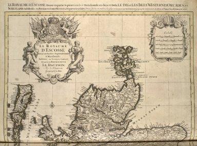 Le Royaume d'Ecosse divisé en parties septrionale et meridionale subdivisé en Provinces ... [1 of 2]
