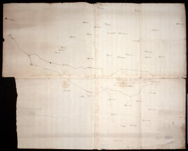 [Unfinished map of Lochwinnoch and surrounding farms, etc, Renfrewshire] [1 of 1]