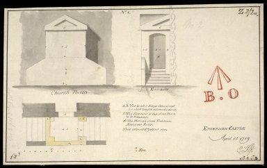 Church Portch; No.I; Edinburgh Castle; April 25 1719 [1 of 1]