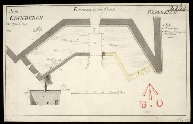Entrance to ye Castle; No.III; Edinburgh 28 April 1719 copy [1 of 1]