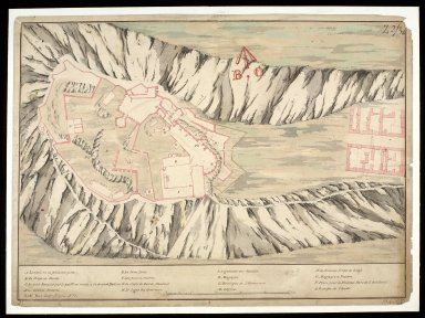 [Plan of Edinburgh Castle - copy; original 1725, copied 1774] [1 of 1]