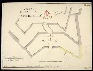 Plan of the works on the entrance of the castle of Edinbo. [copy] [1 of 1]