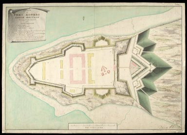 A Plan of Fort George North Britain : shewing how far executed 1753 [1 of 1]
