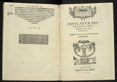 Britannia, sive, florentissimorvm regnorvm, Angliæ, Scotiæ, Hiberniæ, et insularum adiacentium ex intima antiquitate chorographica descriptio [13 of 13]
