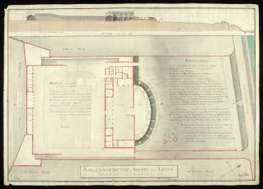 Plan of the inclosed battery or redoubt near Leith : built for the protection of the harbour in the year 1780 [2 of 2]