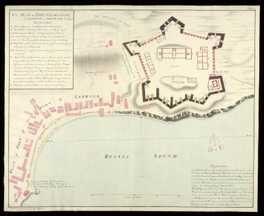 Plan of Fort Charlotte at Lerwick in Shetland No. 2 Jany. [copy] [1 of 1]