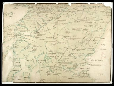 A Description of Part of the Highlands of Scotland [showing clans which rebelled in 1715] [1 of 2]