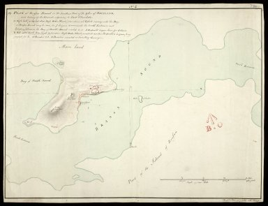 Plan of Brassa-Sound [i.e. Bressay Sound] in the southern part of the Isles of Shetland : and survey of the grounds adjoining to Fort Charlotte, No.4 [1 of 1]