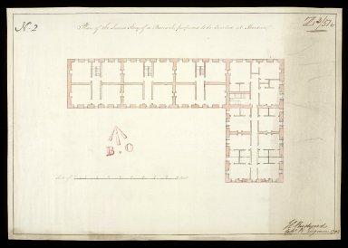 Plan of the second story [sic] of a barrack, proposed to be erected at Aberdeen No. 2 [1 of 1]