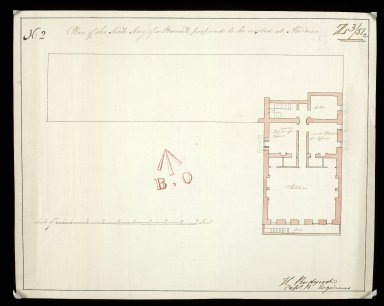 Plan of the sunk story [sic] of a barrack, proposed to be erected at Aberdeen No. 2 [1 of 1]