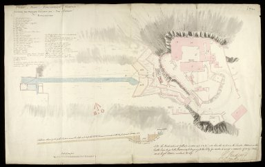 Plan of part of Edinburgh Castle showing the proposed situation for a pipe & cistern [1 of 1]