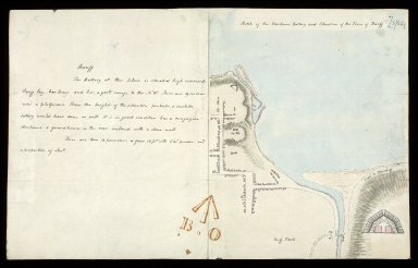 Sketch of the Harbour, Battery and Situation of the Town of Banff [with report] [1 of 1]