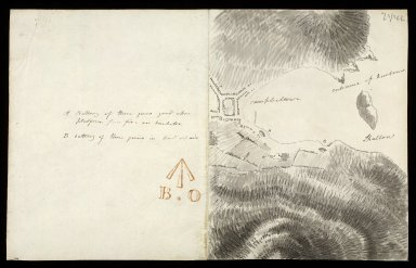 [Sketch plan of Town, Harbour and Battery at Campbeltown] [1 of 2]