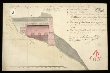 Profil of the flanck proposed to be made at the west end of the new wall at the castle of Edinburgh [1 of 1]