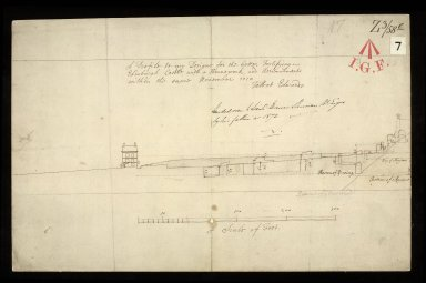 A Profile to my design for the better fortifying Edinburgh Castle, with a hornwork, and retrenchments within the same, November 1710 [1 of 1]