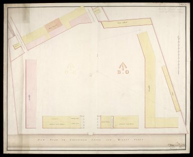 [Leith Battery; plan of] New Ground with stables, additional storehouses, guard house, new barracks and gun shed [1 of 1]