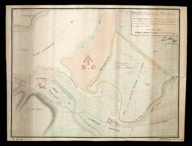 Sketch of the ground in the neighbourhood of Fort William, in the shire of Inverness, and the Point of Corpach [copy] [1 of 1]
