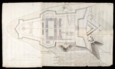 Outline of the East End of Fort George with References to the Estimate for Works & Repairs proposed for that place, in the year 1787 [1 of 1]