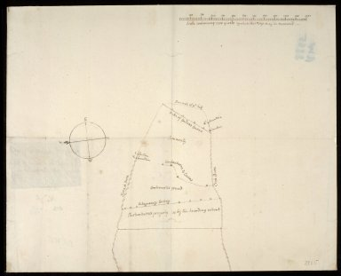 Mapp of controverted ground Betwixt the Lands of Achoynonie and Birkenburn 1737 [1 of 2]