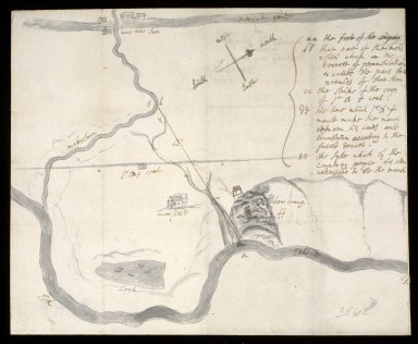 Map of Newhal & Brunston marches done by my sone 28 August 1713 [1 of 1]