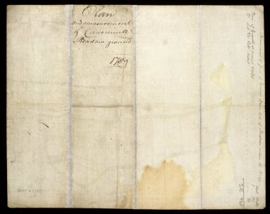 Plan and measurement of Canonmill Meadow ground 1789 [2 of 2]