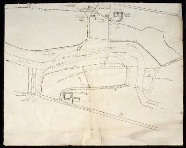 [Sketch map of old road between Nisbet Mill and Mounthooly, and new road since enclosure] [1 of 1]