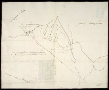 Sketch of the Line of March between the old & new Knockhill Mosses [1 of 2]