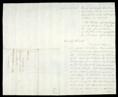 The Petition of Charles Douglas and of Katherine Douglas his wife [1 of 2]