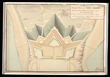 A Plan of the principal front of Fort George : shewing how far the works are carried on to the 30th. September 1751 [1 of 1]