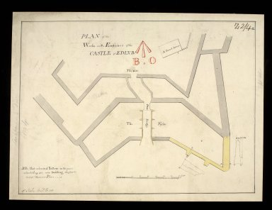 Plan of the works on the entrance of the castle of Edinb. [copy] [1 of 1]