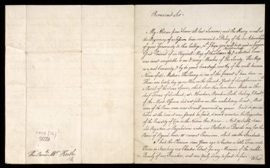 [Letter from Thomas Blackwell, Marischal College, to Bishop Robert Keith, 15 January 1750] [1 of 2]