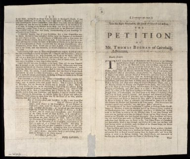 The Petition of Mr. Thomas Buchan of Cairnbuilg, Advocate, [1 of 2]