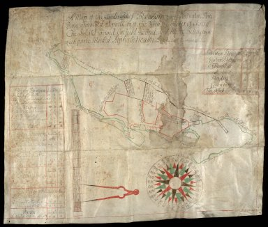 A Map of the Lands & estate of Blainearn; Each Particulare Parte Being Surveyed Separte by it selfe [1 of 1]