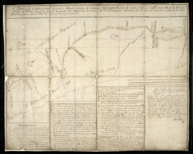 A Plan of the Controverted Ground & Marches, Betwixt Mr. Lindsay's of Glenquich And Mr. Lyon of Wester Ogill, On the Hills on the Westside of ye Glen of Norrin And of the Marches described in the Disposition Mentioned in the Act & Commission [1 of 1]