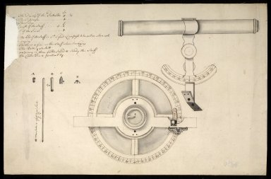 Plan and elevation of a theodolite [1 of 1]