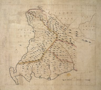 A Generall Mappe of the Wast of Scotland containing the shyres of Clydsdail: Nithsdail: Gal=loway: Shyres of Ayre & Ranfrew: [1 of 1]