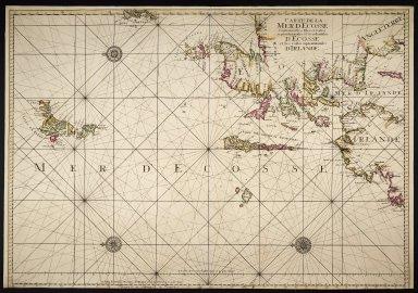 CARTE DE LA MER D'ECOSSE contenant les Isles et Costes Septentrionales et Occidentales D'ECOSSE et les Costes Septentrionales D'IRLANDE [1 of 1]