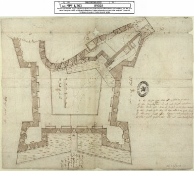 [Plan of Edinburgh Castle] [1 of 1]