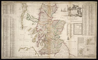 A Mew Mapp OF SCOTLAND or NORTH BRITAIN with Considerable Improvements according to the Newest Observations. 1731 [1 of 1]