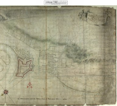 Draught of Fort William & Maryburgh With the fields and Waters thereabouts at Inverlochie in Lochaber [original map 1696] [1720 copy] [2 of 2]