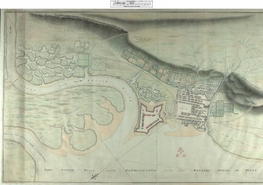 Draught of Fort William and Maryburgh with the Fields and Waters there-abouts at Inverlochie in Lochaber [original 1696] [1813 copy] [1 of 2]